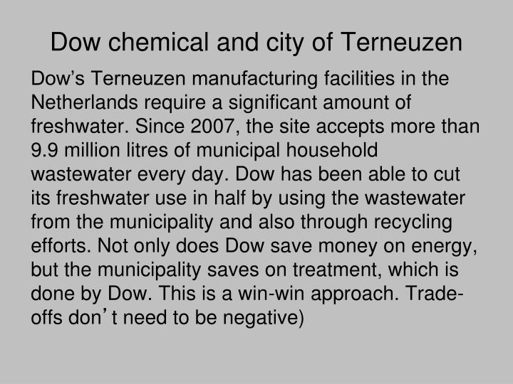 Dow chemical and city of Terneuzen