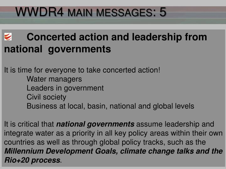 WWDR4 main messages: 5