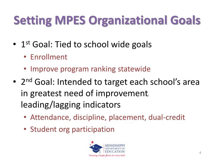 Setting MPES Organizational Goals