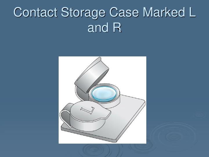 Contact Storage Case Marked L and R