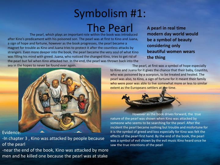 an analysis of the pearls representation in the pearl by john steinbeck The pearl by john steinbeck the pearl analysis literary devices in the pearl kino takes to the water in the hopes of finding a great pearl but the pearls.