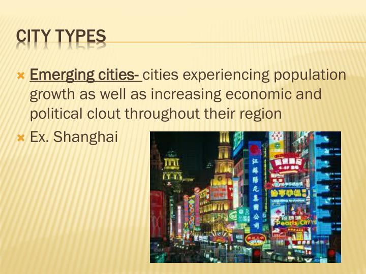 Emerging cities-