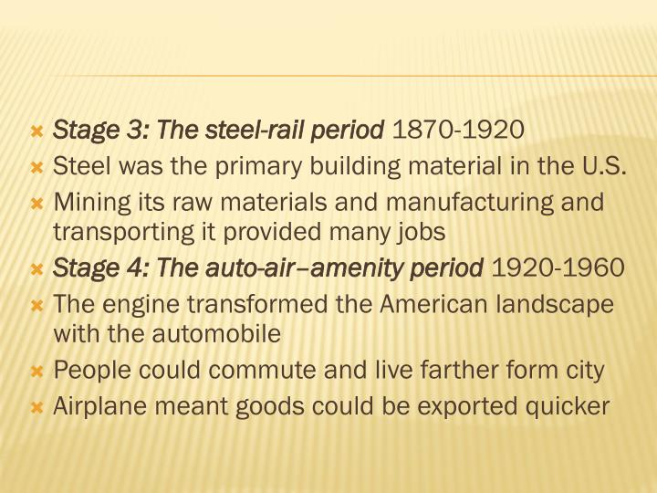 Stage 3: The steel-rail period