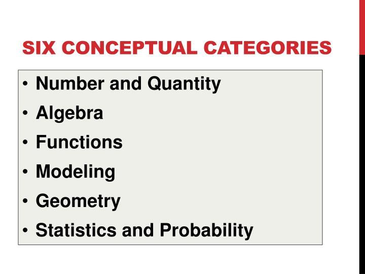 six conceptual categories