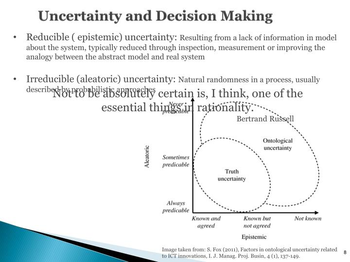 Uncertainty and Decision Making
