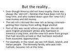 but the reality