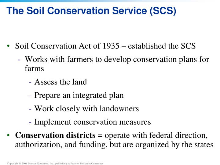 Ppt chapter 9 soil degradation and conservation for Soil conservation act