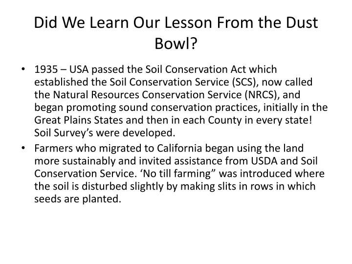 Did We Learn Our Lesson From the Dust Bowl?