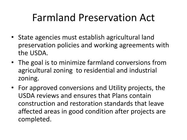 Farmland Preservation Act