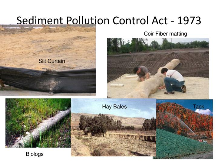 Sediment Pollution Control Act - 1973