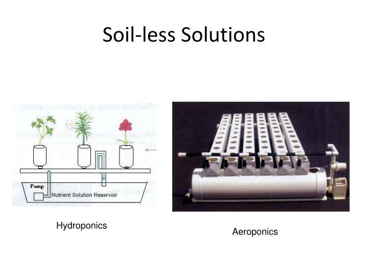 Soil-less Solutions