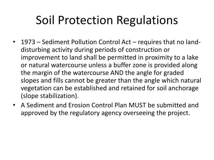 Soil Protection Regulations
