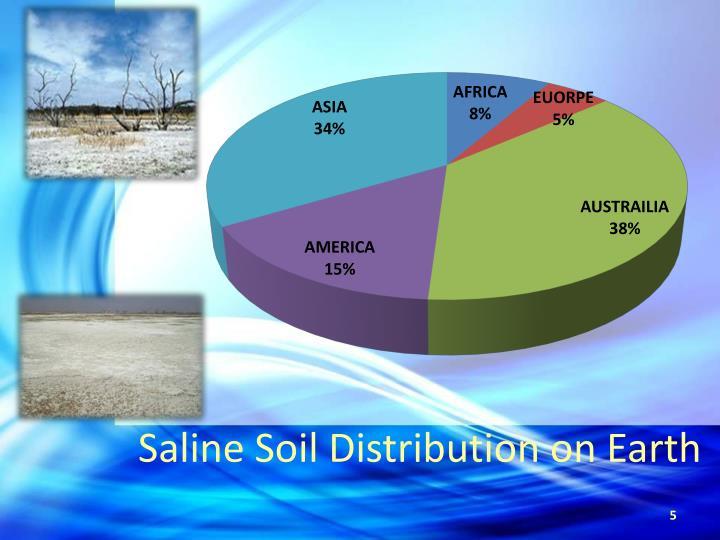 Saline Soil Distribution on Earth
