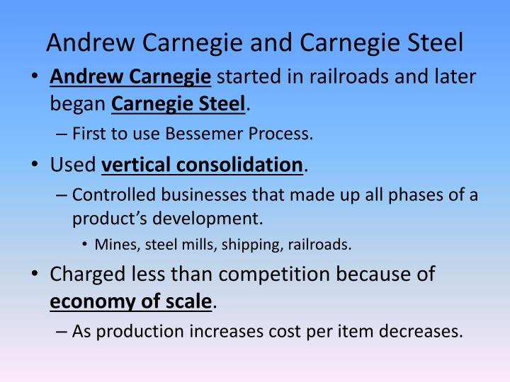 Andrew Carnegie and Carnegie Steel