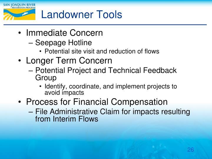 Landowner Tools