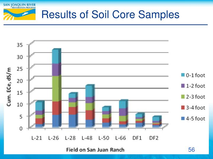 Results of Soil Core Samples