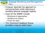 seepage monitoring and management plan