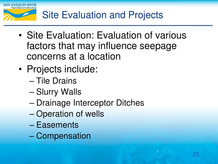 Site Evaluation and Projects