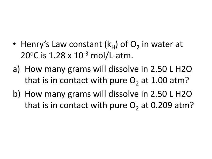 Henry's Law constant (