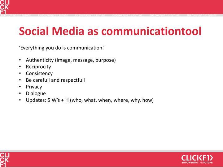 Social Media as