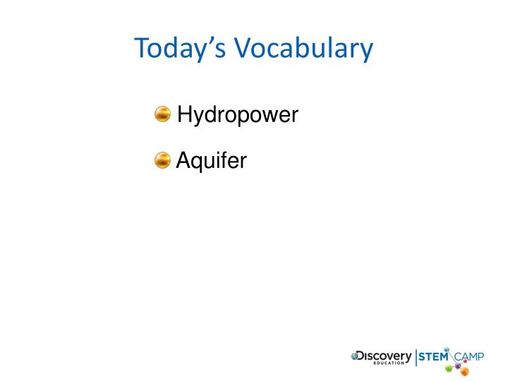 Today's Vocabulary