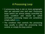 a processing loop1