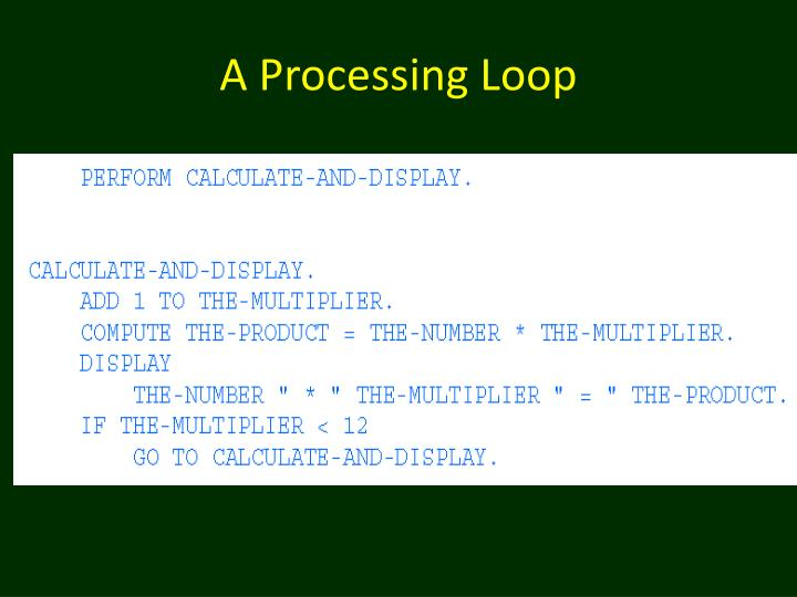 A Processing Loop