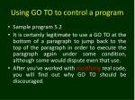 using go to to control a program2