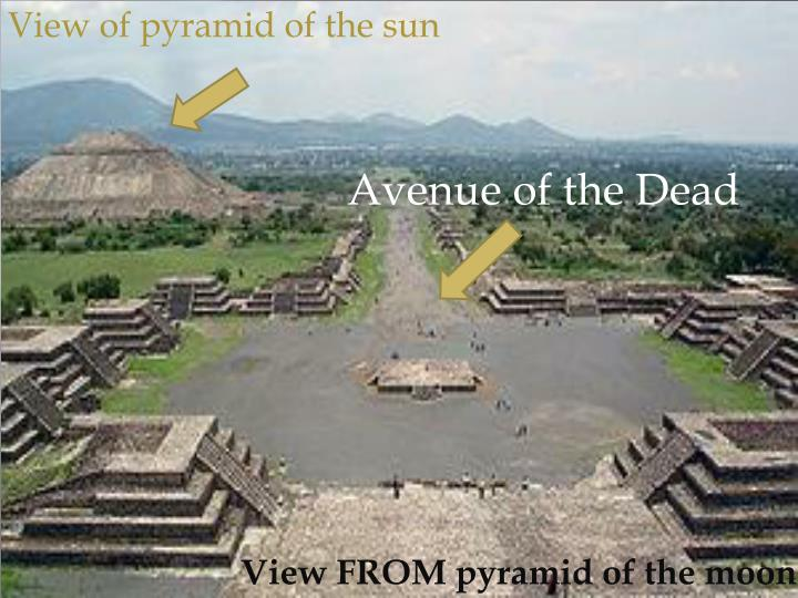 View of pyramid of the sun