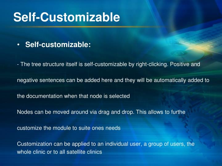 Self-Customizable