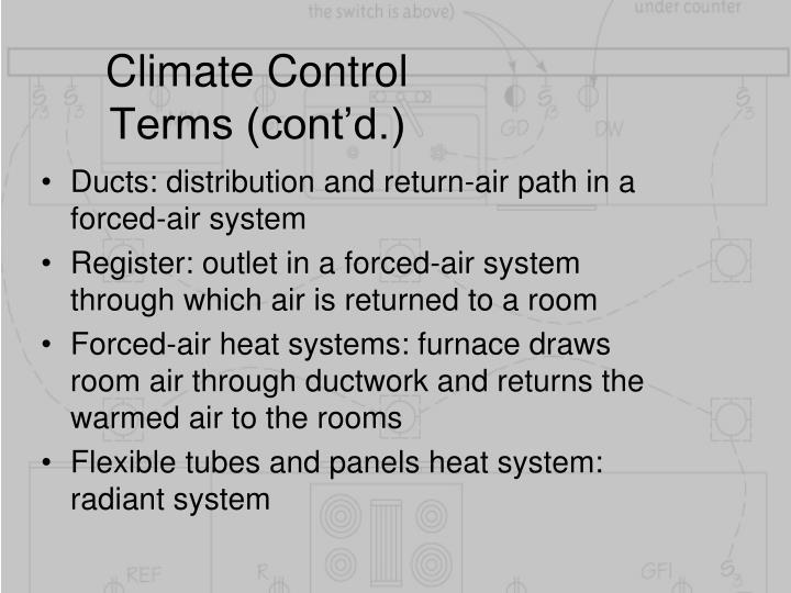 Climate Control Terms (cont'd.)