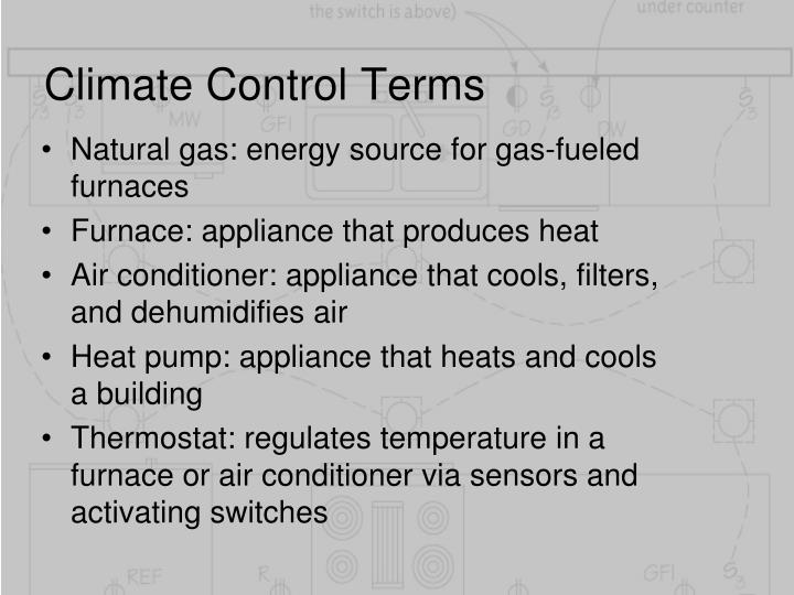 Climate Control Terms