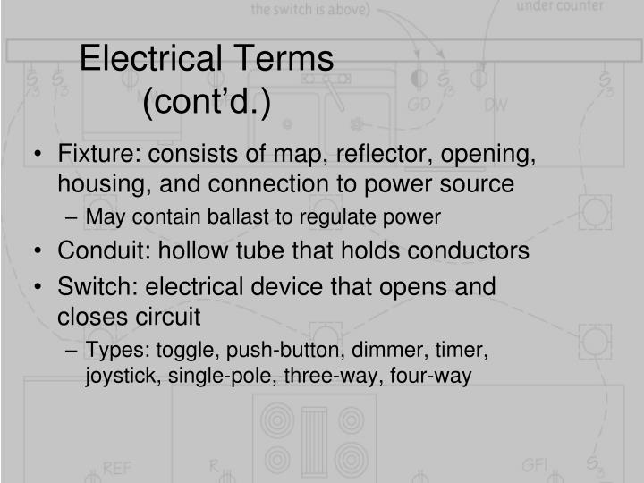 Electrical Terms (cont'd.)