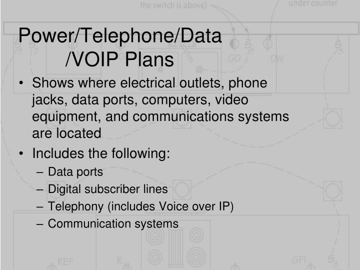 Power/Telephone/Data/VOIP Plans
