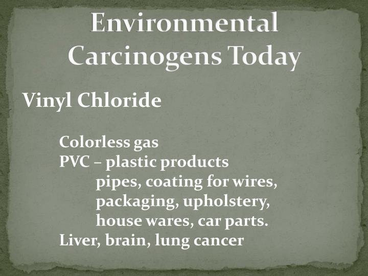 Environmental Carcinogens Today
