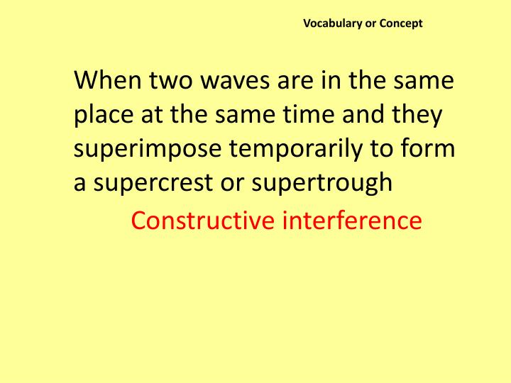 Vocabulary or Concept