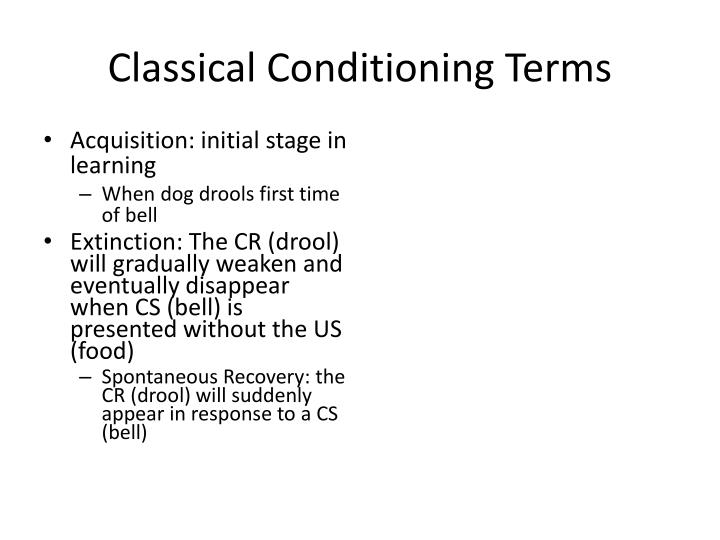 Classical Conditioning Terms