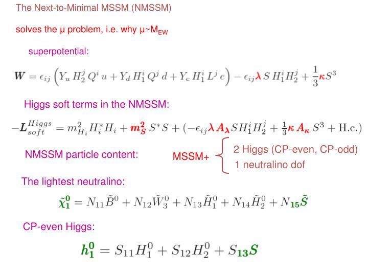The Next-to-Minimal MSSM (NMSSM)
