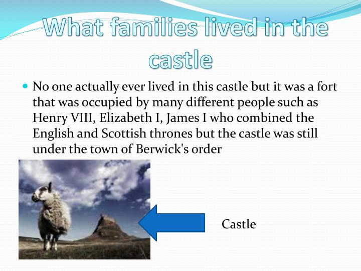 What families lived in the castle