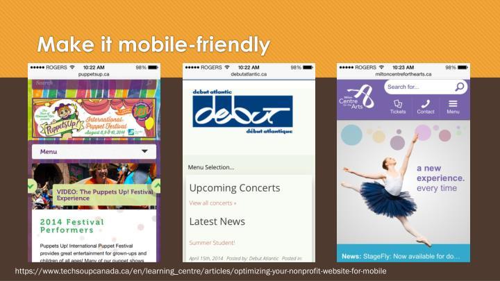 Make it mobile-friendly