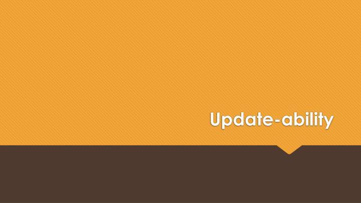 Update-ability