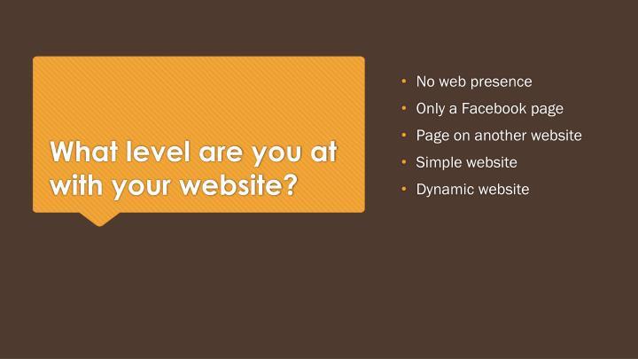 No web presence
