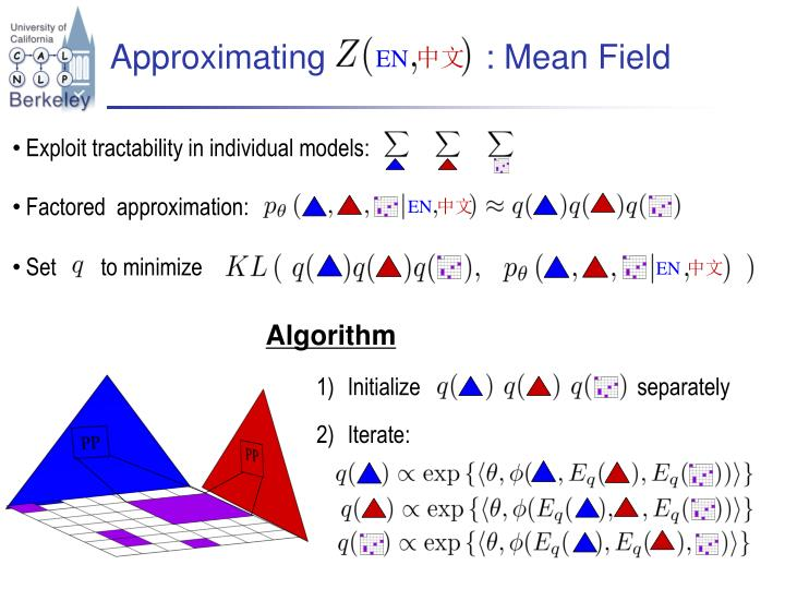 Approximating                 : Mean Field