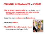 celebrity appearances at events