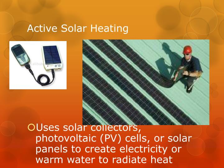 Active Solar Heating
