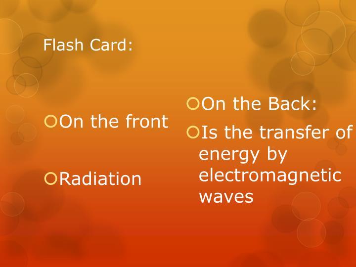 Flash Card: