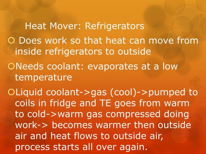 Heat Mover: Refrigerators