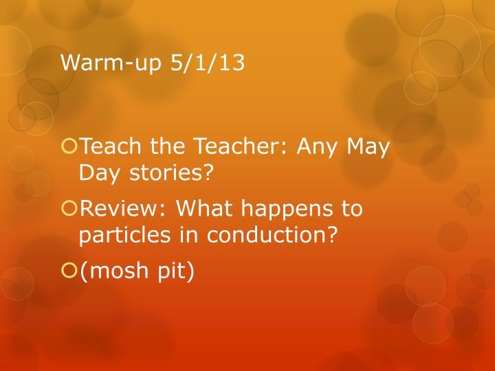 Warm-up 5/1/13