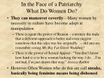 in the face of a patriarchy what do women do1