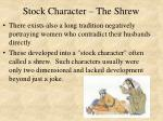 stock character the shrew